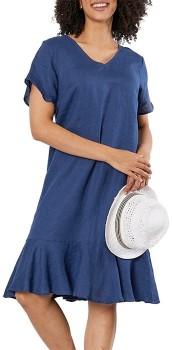 Gordon-Smith-Linen-Flared-Dress on sale