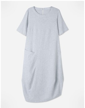 Regatta-Linen-Blend-Stripe-Dress on sale