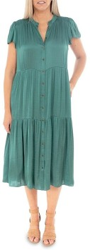Pingpong-Flutter-Sleeve-Tiered-Dress on sale