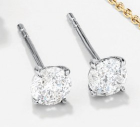 NEW-Solitaire-Stud-Earrings-with-050ct-TW-Diamonds-in-10ct-White-Gold on sale
