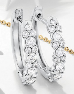 NEW-Solitaire-Huggie-Earrings-with-050ct-TW-Diamonds-in-10ct-White-Gold on sale