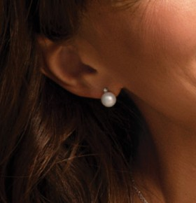 NEW-Stud-Earrings-with-Cultured-Freshwater-Pearl-Cubic-Zirconia-in-Sterling-Silver on sale