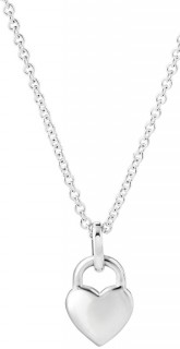 NEW-Heart-Lock-Pendant-with-Cubic-Zirconia-in-Sterling-Silver on sale