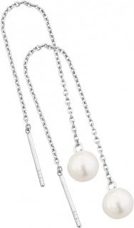 NEW-Threader-Earrings-with-Cultured-Freshwater-Pearls-in-Sterling-Silver on sale