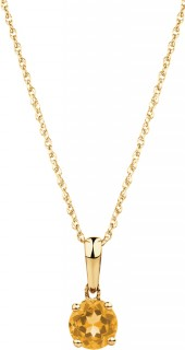 Pendant-with-Citrine-in-10ct-Yellow-Gold on sale