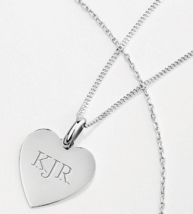 NEW-Small-Heart-Pendant-with-Chain-in-Sterling-Silver on sale
