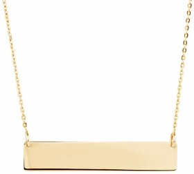NEW-30mm-Engravable-Bar-Necklace-in-10ct-Yellow-Gold on sale