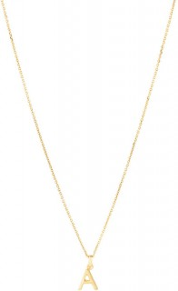 A-Initial-Pendant-with-Chain-in-10ct-Yellow-Gold on sale