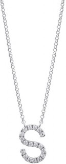 S-Initial-Necklace-with-010-Carat-TW-of-Diamonds-in-10ct-White-Gold on sale