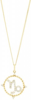 Capricorn-Zodiac-Pendant-with-020-Carat-TW-of-Diamonds-in-10ct-Yellow-Gold on sale