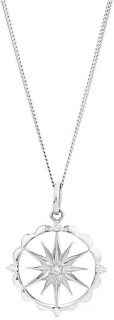 Star-Talisman-Pendant-with-Diamonds-in-Sterling-Silver on sale
