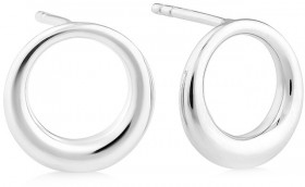 Sculpture-Circle-Stud-Earrings-In-Sterling-Silver on sale