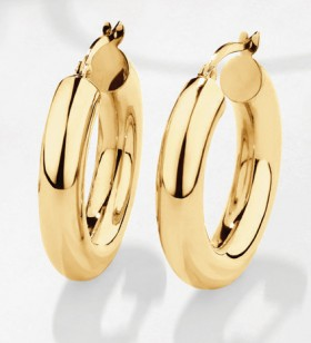 NEW-15mm-Hoop-Earrings-in-10ct-Yellow-Gold on sale