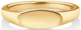 Oval-Signet-Ring-in-10ct-Yellow-Gold on sale