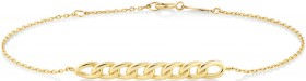 19cm-Curb-Bar-Cable-Chain-Bracelet-in-10ct-Yellow-Gold on sale