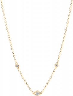 Necklace-with-010-Carat-TW-of-Diamonds-in-10ct-Yellow-Gold on sale