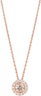 Pendant-with-Morganite-015-Carat-TW-of-Diamonds-in-10ct-Rose-Gold on sale