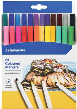 Studymate-24-Pack-Coloured-Markers on sale
