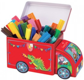 Faber-Castell-33-Pack-Connector-Pens-in-Truck-Tin on sale