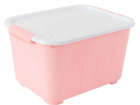 Otto-52L-Stackable-Storage-Tub-Pink on sale