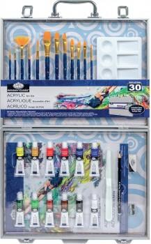 Royal-Langnickel-Art-Kit-Aluminum-Box-Set-Acrylic-Paint-31-Piece on sale