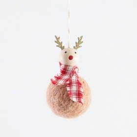 Jolly-Hanging-Reindeer-Decoration-by-Habitat on sale
