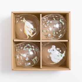 Australian-Glass-Bauble-Pack-of-4-by-Habitat on sale