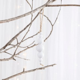 Noelle-White-Beaded-Decoration-by-Habitat on sale