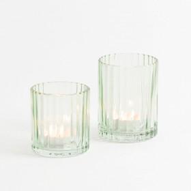 Luna-Light-Green-Candle-Holder-by-Habitat on sale