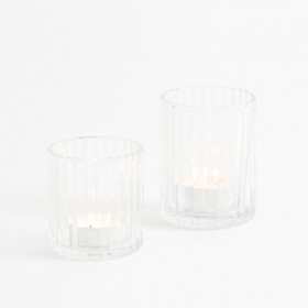 Luna-Clear-Candle-Holder-by-Habitat on sale