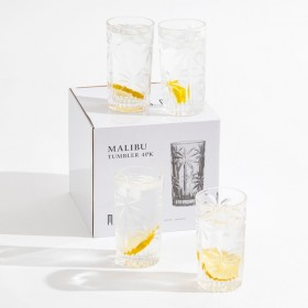 Malibu-Highball-Glasses-Set-of-4-by-MUSE on sale