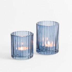 Luna-Dark-Blue-Candle-Holder-by-Habitat on sale