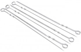 The-Cooks-Collective-Stainless-Steel-6pc-Skewer-Set on sale