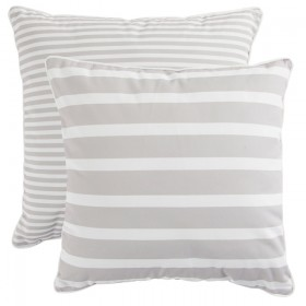 Sundays-Aegean-Stripe-Natural-Small-Outdoor-Cushion-by-Pillow-Talk on sale