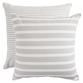 Sundays-Aegean-Stripe-Natural-Large-Outdoor-Cushion-by-Pillow-Talk on sale