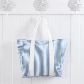 Sundays-Aegean-Denim-Stripe-Beach-Bag-by-Pillow-Talk on sale