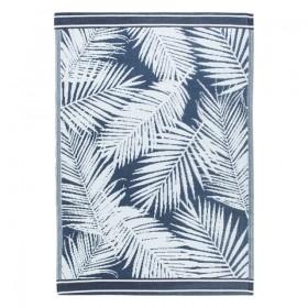 Sundays-Palmer-Navy-Outdoor-Mat-by-Pillow-Talk on sale