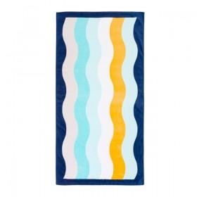 Sundays-Wave-Beach-Towel-by-Pillow-Talk on sale