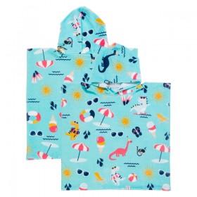 Sundays-Dino-Salad-Kids-Hooded-Beach-Towel-by-Pillow-Talk on sale