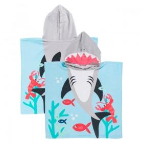 Sundays-Shark-Kids-Hooded-Beach-Towel-by-Pillow-Talk on sale