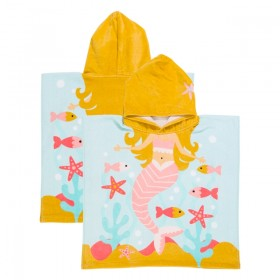 Sundays-Mermaid-Kids-Hooded-Beach-Towel-by-Pillow-Talk on sale