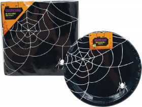 Halloween-Disposable-Plates-or-Cups-Pk-8-or-Napkins-Pk-16 on sale