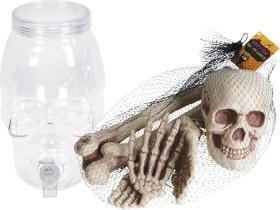 Halloween-Drink-Dispenser-Halloween-Bag-of-Bones-Candelabra-or-Light-Up-Tombstone on sale